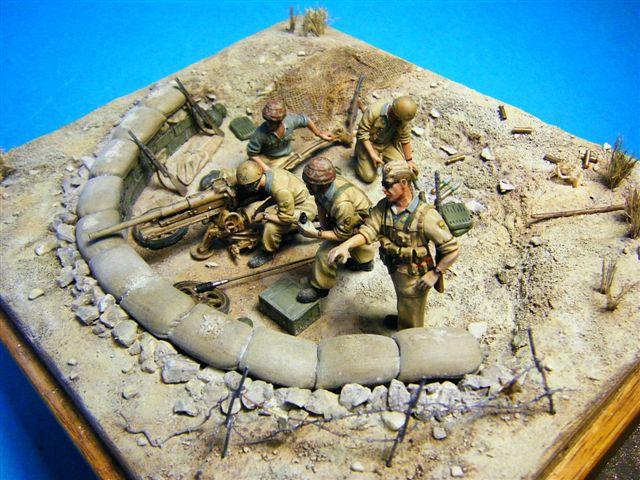 Postazione anticarro della Folgore ad El-Alamein -ottobre 1942 scala ... 8e7bd436254e